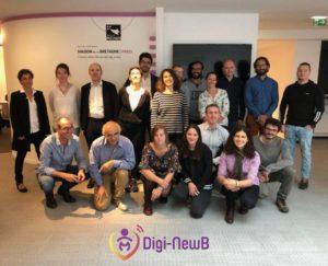 L'équipe pluri-disciplinaire du projet DigiNewb en 2019
